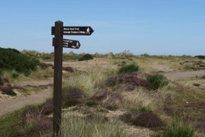 Moray Coast Trail running through Nature Reserve